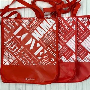 3 large lululemon reusable totes